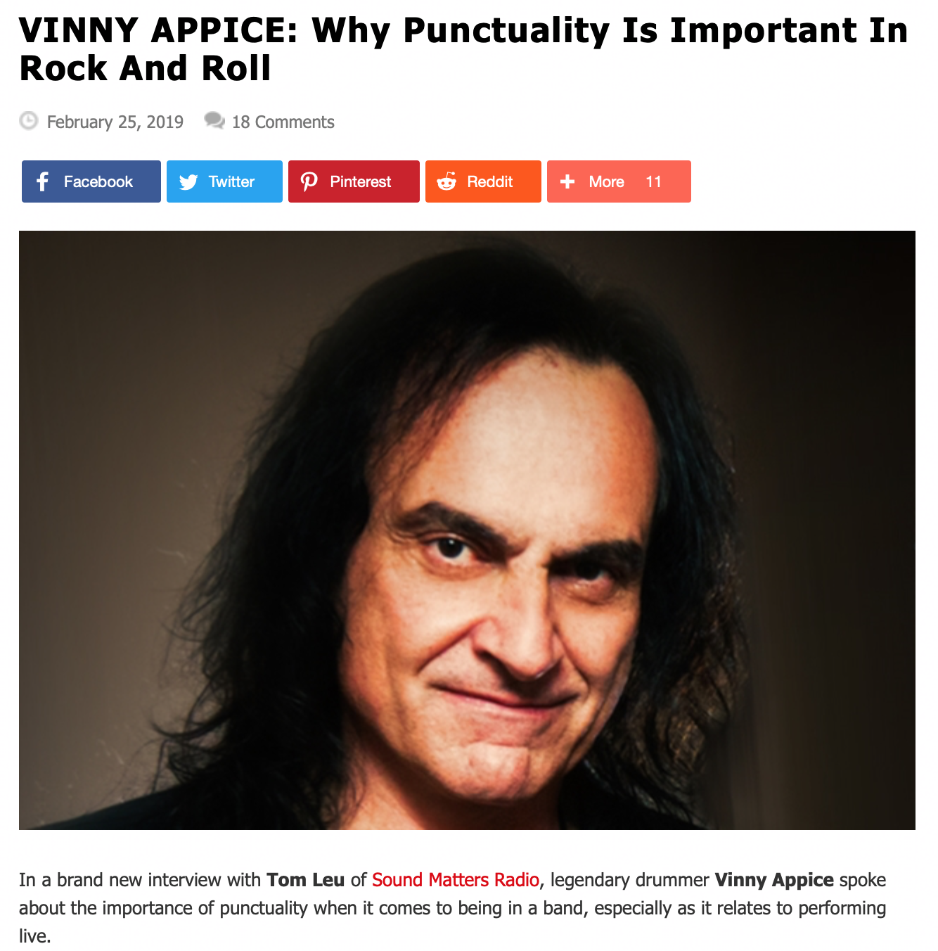 Vinny Appice Interview on Blabbermouth