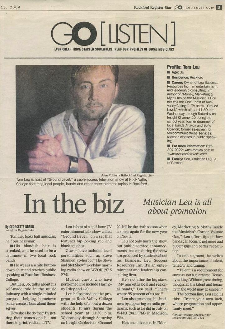 Tom Leu featured in RRStar