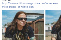Mike Tramp Interview on Blabbermouth